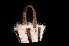 Basket made from birch Royalty Free Stock Image