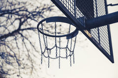 Basket made of chains for basketball playing Stock Photography