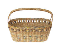 Basket made from newspaper Royalty Free Stock Image