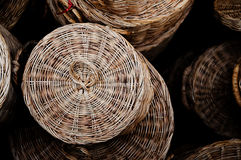 Basket made from rattan Royalty Free Stock Image