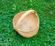 A basket made in the traditional way by settlers in the appalachians Royalty Free Stock Photos