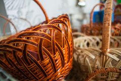Basket. Made of wicker weaving Royalty Free Stock Photos