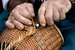 Basket-maker royalty free stock photos