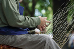 Basket maker Royalty Free Stock Image
