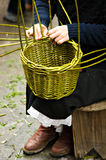 Basket maker Stock Image