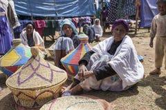 Basket makers, Ethiopia Royalty Free Stock Image