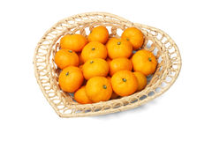 Basket Of Mandarin Oranges Royalty Free Stock Image
