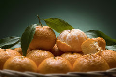 A basket of Mandarins Royalty Free Stock Photo
