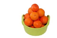 Basket of mandarins. Stock Photo