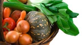 Basket of Market Vegetables Stock Photo