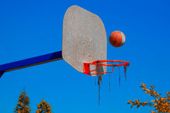Basket match Royalty Free Stock Photography