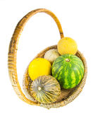 A Basket of Melons IV Royalty Free Stock Images