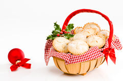 Basket Of Mince Pies Royalty Free Stock Photography