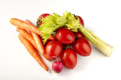 Basket of mixed vegetables Royalty Free Stock Photos