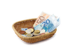 Basket with Money Stock Images