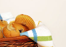 Basket Of Muffins Royalty Free Stock Image