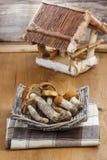 Basket of mushrooms Royalty Free Stock Photo
