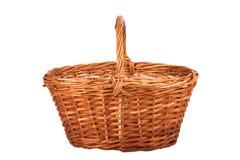 Basket of mushrooms isolated on white background Royalty Free Stock Image