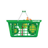 Basket nature and eco vector. Illustration on a white background Royalty Free Stock Photos