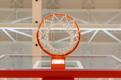 Basket and network. Under the lights of the hall Royalty Free Stock Photography