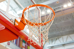 Basket and network. Under the lights of the hall Stock Image
