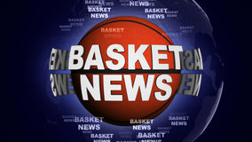 BASKET NEWS BALL Computer Graphics Background Royalty Free Stock Photo