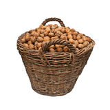 Basket with nuts Royalty Free Stock Images