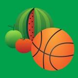 Basket och frukt Royaltyfria Foton