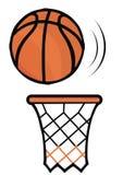 Basket och korg, vektorsymbol Arkivfoto