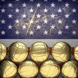 Basket och USA väggbakgrund Fotografering för Bildbyråer