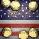 Basket och USA väggbakgrund Royaltyfri Fotografi