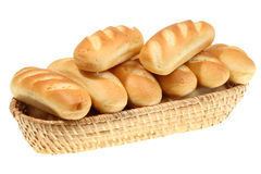 Basket Of Bread Roll. Stock Photos