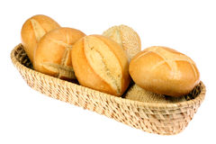 Basket Of Bread Rolls Stock Image