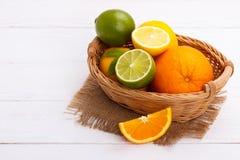 Free Basket Of Citrus Fruit Royalty Free Stock Photography - 91619837