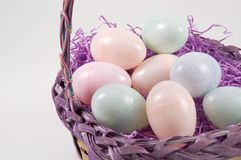 Basket Of Easter Eggs Royalty Free Stock Images