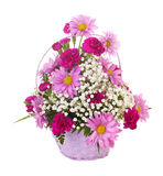Basket Of Flowers Royalty Free Stock Photos
