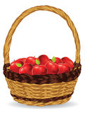 Basket Of Red Apples Stock Photography
