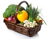 Basket Of Seasonal Fresh Vegetables Stock Photography