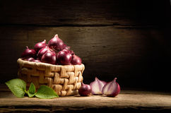 Basket Of Onion Stock Images