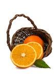 Basket with orange Royalty Free Stock Photography