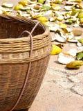 Basket for orange skin Stock Image