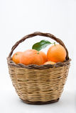 Basket of oranges Stock Images