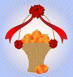 Basket oranges Royalty Free Stock Images
