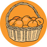 Basket of Oranges Royalty Free Stock Photo