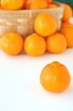 Basket of Oranges Royalty Free Stock Image