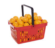 Basket with oranges Stock Images
