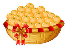 A basket of oranges Stock Photo