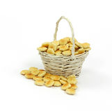 Basket Oyster Crackers Stock Images