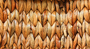 Basket from palm leaves. Background. Extrem close-up Royalty Free Stock Photo