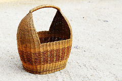 Basket from paper on the ground Royalty Free Stock Images